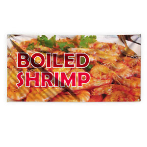 Boiled Shrimp Outdoor Advertising Printing Vinyl Banner Sign With Grommets