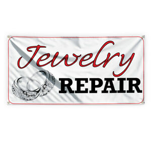 Jewelry Repair 2 Advertising Printing Vinyl Banner Sign With Grommets
