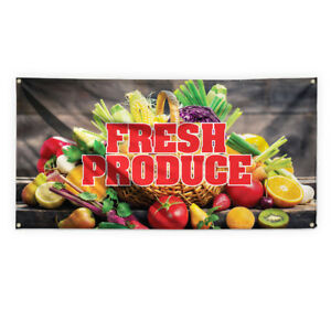 Fresh Produce 1 Outdoor Advertising Printing Vinyl Banner Sign With Grommets