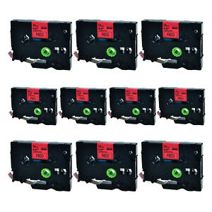 Black On Red Label Tape Tz431 Tze431 For Brother P touch 0 47 1 2 12mm 10pk