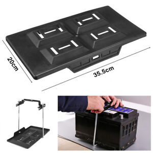 Durable New Car Truck Marine Battery Tray Adjustable Hold Down Clamp Bracket Kit