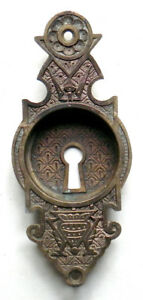 Antique Aesthetic Hardware Cast Brass Or Bronze Pocket Door Pull Mortise Lock