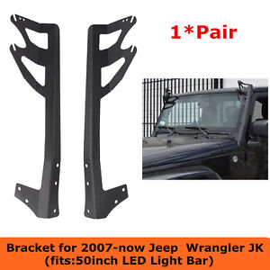 07 18 Fits Jeep Wrangler Jk Windshield Mounting Bracket For 50 Led Light Bar