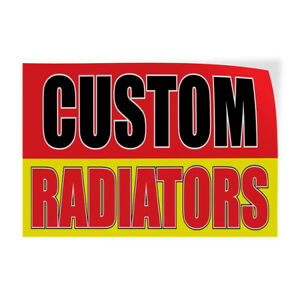 Custom Radiators Indoor Store Sign Vinyl Decal Sticker