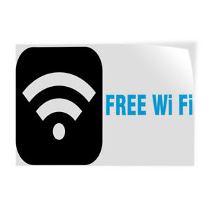 Free Wi fi 1 Indoor Store Sign Vinyl Decal Sticker