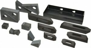 Te co 21002 13 Piece Fixturing Step Block Clamp Set W 1 Step Block