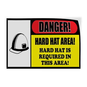 Hard Hat Is Required In This Area Indoor Store Sign Vinyl Decal Sticker