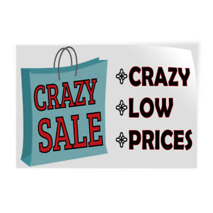 Crazy Sale Crazy low prices Indoor Store Sign Vinyl Decal Sticker
