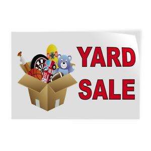 Yard Sale 1 Indoor Store Sign Vinyl Decal Sticker
