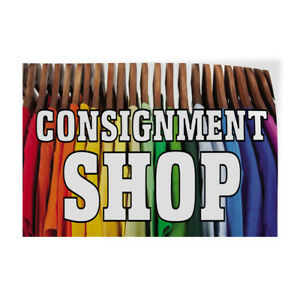 Consignment Shop Indoor Store Sign Vinyl Decal Sticker
