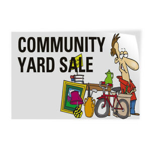 Community Yard Sale 2 Indoor Store Sign Vinyl Decal Sticker