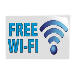 Free Wi fi 2 Indoor Store Sign Vinyl Decal Sticker