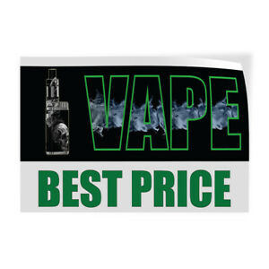 Vape Best Price Indoor Store Sign Vinyl Decal Sticker