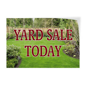 Yard Sale Today Indoor Store Sign Vinyl Decal Sticker