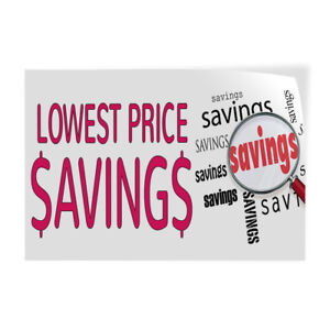 Lowest Prices Saving Indoor Store Sign Vinyl Decal Sticker
