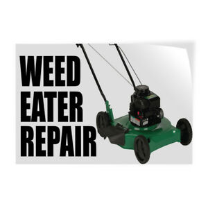 Weed Eater Repair Indoor Store Sign Vinyl Decal Sticker