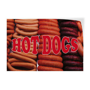 Hot Dog 1 Indoor Store Sign Vinyl Decal Sticker