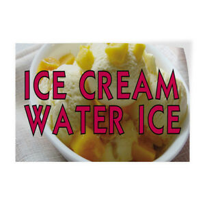 Ice Cream Water Ice 2 Indoor Store Sign Vinyl Decal Sticker