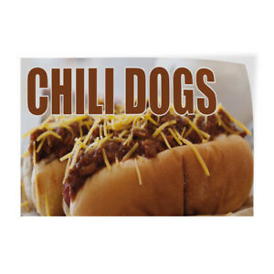 Chili Dogs 1 Indoor Store Sign Vinyl Decal Sticker