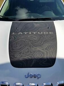 2014 2018 Jeep Cherokee Latitude Vinyl Hood Decal Sticker Graphic Stripe