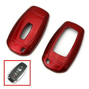 Glossy Red Key Fob Shell Cover For 2018 up Lincoln Mkz Mkc Navigator Continental