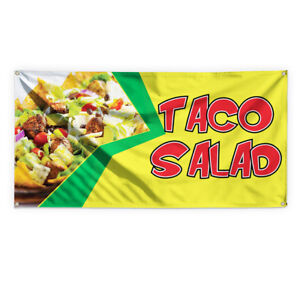 Taco Salad 1 Outdoor Advertising Printing Vinyl Banner Sign With Grommets