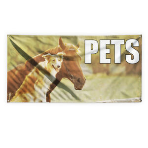 Pets 1 Outdoor Advertising Printing Vinyl Banner Sign With Grommets