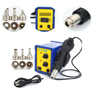 858 Smd Rework Soldering Station Hot Air Gun Desoldering Welder Tool Kit 110v