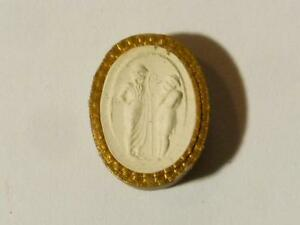 19thc Intaglio Plaster Molded Tassie Boy Chatting Up A Girl Grand Tour Seal 25