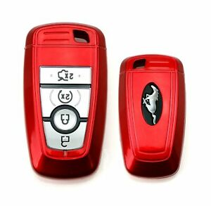 Red Key Fob Shell Cover For Ford Edge Fusion Mustang F150 F250 Explorer Keyless