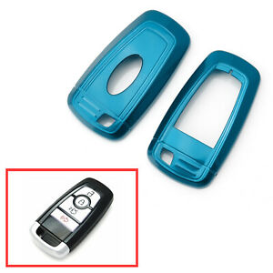 Blue Key Fob Shell Cover For Ford Edge Fusion Mustang F150 F250 Explorer Keyless