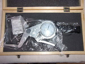Shars 303 3128 Outside Dial Caliper 3 2 4 Grad 0005 New In Wood Box