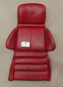 90 92 Corvette Sport Seat Foam Cushion W Cover Red Leather Lh Or Rh 02862