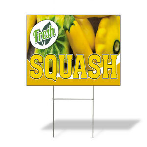 Weatherproof Yard Sign Fresh Squash Outdoor Advertising Printing Lawn Garden