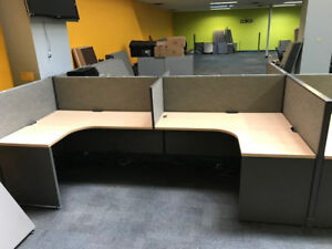 Used Office Cubicles Haworth Unigroup Too 5x4 Cubicles