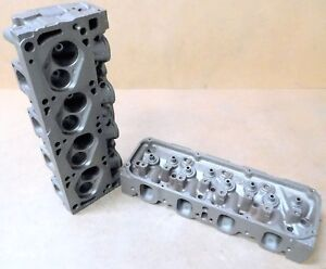 Ford D1ae ga Cleveland Cylinder Heads Dated Ok16 19 W used Valves Pair