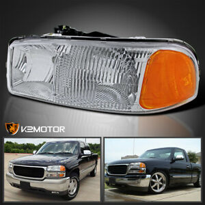 For 1999 2006 Gmc Sierra 1500 2500hd 2000 2006 Yukon Headlight Left Driver Side