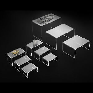Mecor 9 Clear Acrylic Risers Jewelry Display Stands For Exhibition