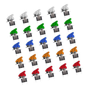 25pcs 12v Safety Cover Led Toggle Switch Spst On off 20a For Car Boat Atv