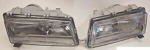Saab 9000 1994 98 European E Code Headlight Pair 9081373 9081381 Conversion
