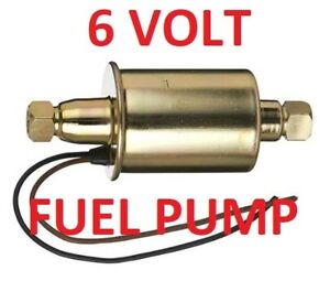 6 Volt Electric Fuel Pump For Chryslers W unleaded Gas can Be Assist Or Primar