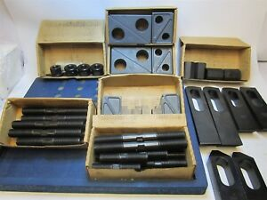 Te co 50 Piece Deluxe Clamping Set Heavy Duty Stud Size 7 8 9 With 1 T slot
