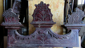 Antique Carved Header Pediment 30 Inches Wide Architectural Salvage