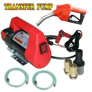 Electric Diesel Oil Transfer Pump 12v 10gpm Dc Fuel Kerosene Extractor pump Gun