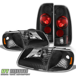 Black 1997 2003 Ford F 150 F150 Headlights Tail Lights Lamps 97 03 Left Right