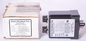 Macromatic Solid State Time Delay Relay Ss 63122