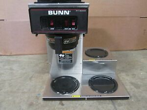 bunn Vp17 3 H d Commercial nsf pour over Coffee Brewer W 3 Pot Warmers