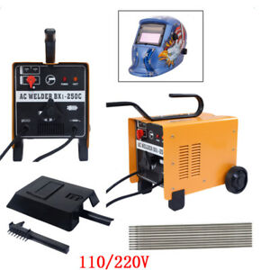 110v 220v Arc 250 Amp Welder Welding Machine Soldering Accessories Weld Helmet