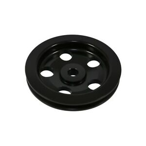 Chevy Gm Black Aluminum Power Steering Pump Pulley 1 Groove Bolt On Keyway