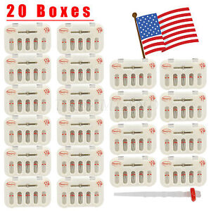 20 Box Dental Fiber Post Resin Post Screw Thread Quartz Drills Usa Stock Red